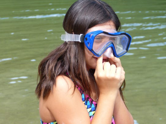 Patricia Vanni, 12, was ready for a little swimming