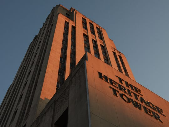 Does downtown Battle Creek's Heritage Tower, seen at