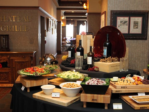 The vast salad bar at the Sunday Brunch at Chateau on the Lake.