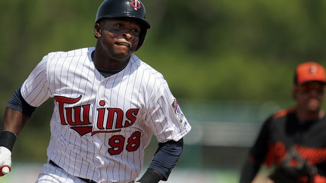 Twins third baseman Miguel Sano runs the bases Tuesday March 26 while playing a spring training game against the Baltimore Orioles