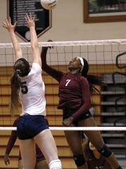 Florida High's Nylah Demps attempts a shot on Sneads' Shelby Glawson during their preseason game at Leon High School on Friday, Aug. 21, 2015.