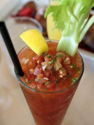 Bloody Mary is served at Half Moon restaurant in Dobbs Ferry.