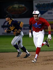 4-C ClubSox baserunner Devin Ferrari heads to third during Game 1 of the 2017 Connie Mack World Series on Tuesday at Ricketts Park.
