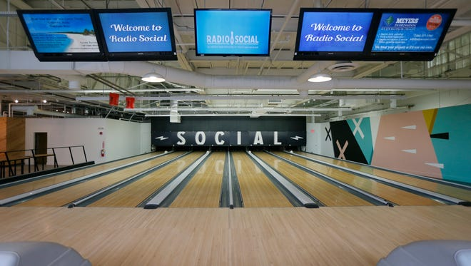Radio Social, a new bowling and entertainment facility on Carlson Road, near Artisan Works in the city.
