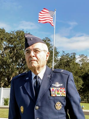 Brigadier General William B. Webb, USAF (Ret) was the keynote speaker at the ribbon cutting for a new administration building at the Tallahassee National Cemetery.