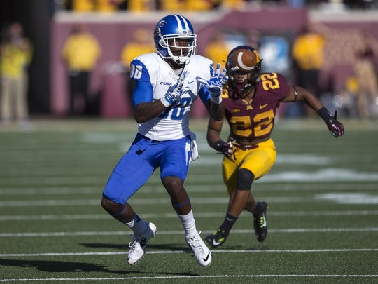 Wide receiver Ed Batties is MTSU's leading returning pass catcher. He hauled in 45 in 2014.