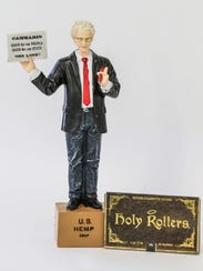 A bobble head of Bill Levin, a cannabis advocate and