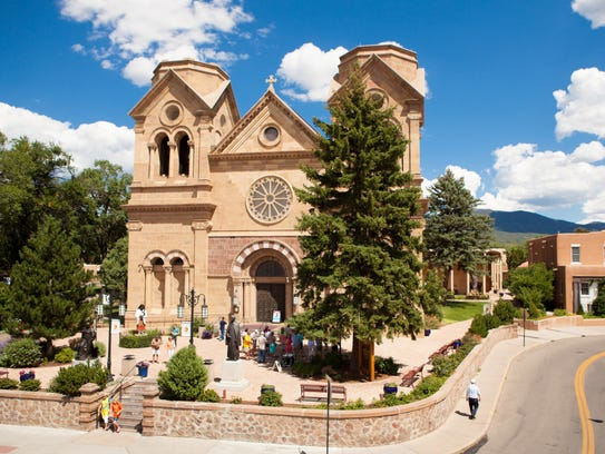 Saint Francis Cathedral in Santa Fe is one of the cities