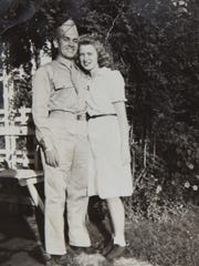 Jim and Peggy Fegan are seen in a  portrait at their