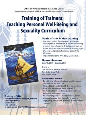 "A flyer promoting ""Training of Trainers: Teaching Personal Well-Being and Sexuality Curriculum."""