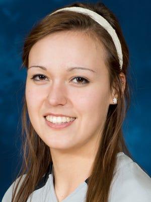 KCC freshman pitcher Holly VanTillburg.