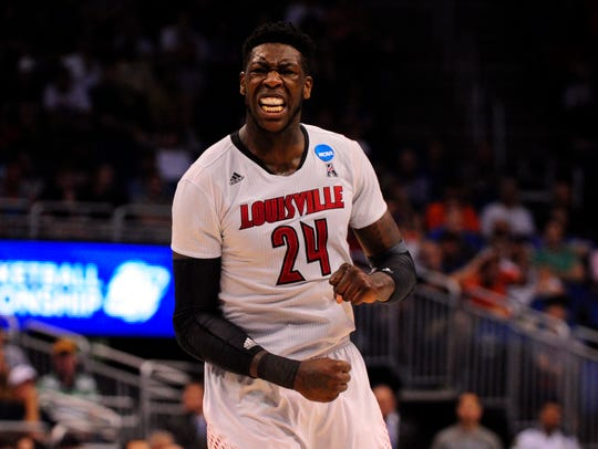 Louisville Cardinals forward Montrezl Harrell surprised