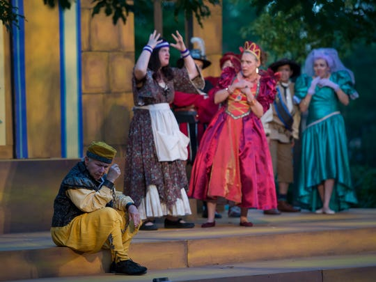 Scenes from OpenStage Theatre & Company's production of William Shakespeare's The Comedy of Errors on Friday, June 22, 2018, at The Park at Columbine Health Systems in Fort Collins, Colo.