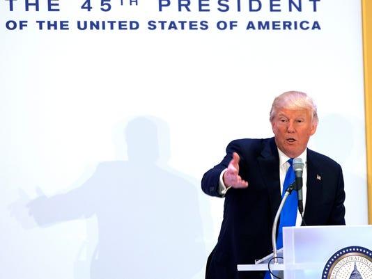 Trump Speaks At Luncheon At Trump International Hotel
