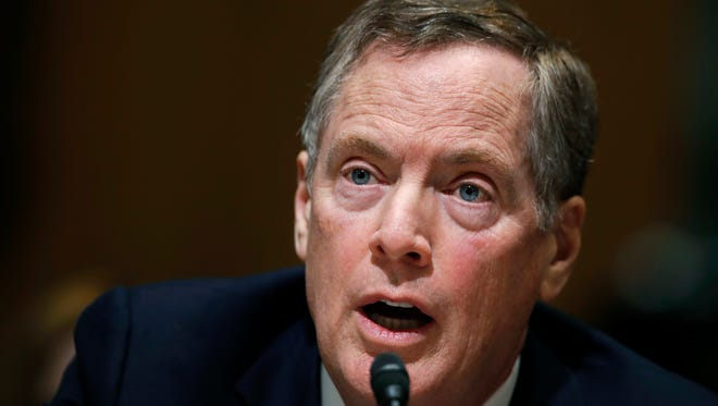 Robert Lighthizer testifies before the Senate Finance Committee.
