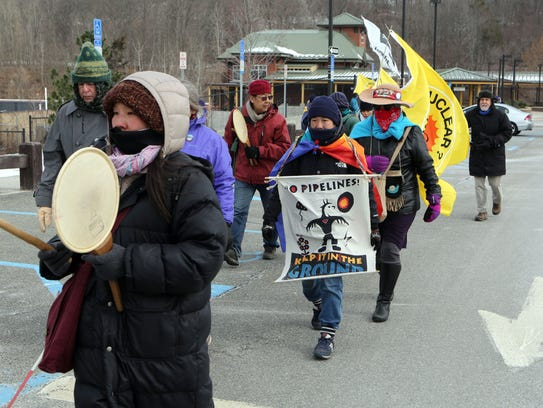 Marchers with the Water Walk for Life prayer walk start