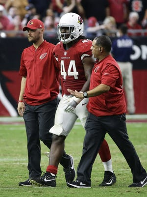 Outside linebacker Markus Golden's season-ending knee injury has forced the Cardinals to do some shuffling at their linebacker spots.