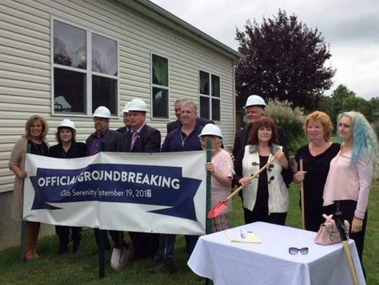 A groundbreaking ceremony for Club Serenity, who received