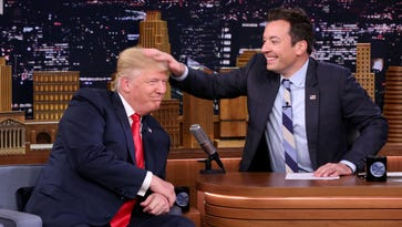 """""""Tonight Show"""" host Jimmy Fallon faced backlash from some due to Donald Trump's appearance on his NBC program last month."""