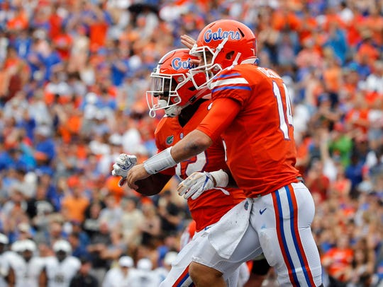 Florida Gators running back Lamical Perine (22) is