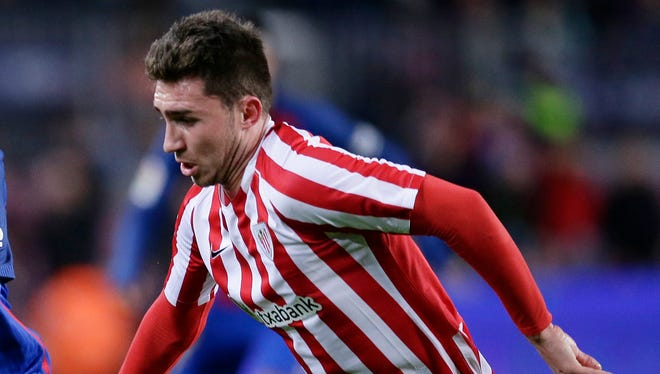 Aymeric Laporte, shown last year with Athletic Bilbao, is signing with Manchester City.