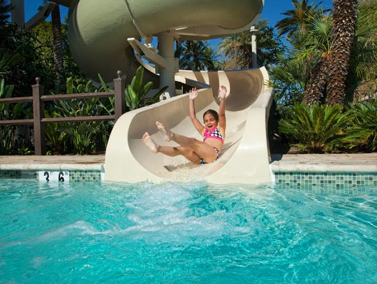 Try the waterslide at The Wigwam in Litchfield Park.
