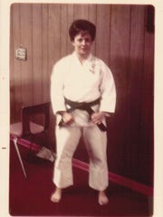 Alice Pursel achieved a Black Belt in karate and taught self defense classes for women.