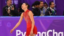 Mirai Nagasu (USA) competes in the women's free skate