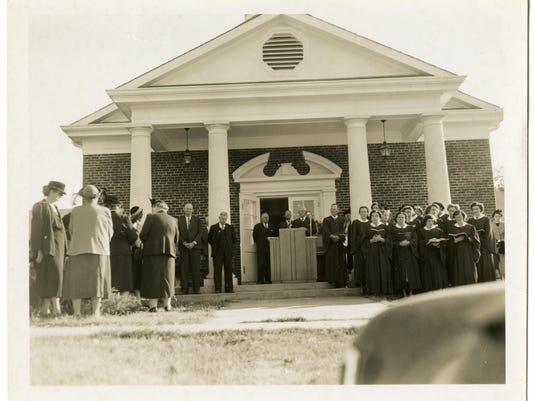 Rev. Richmond Nolley Reinternment Service photograph (1952)