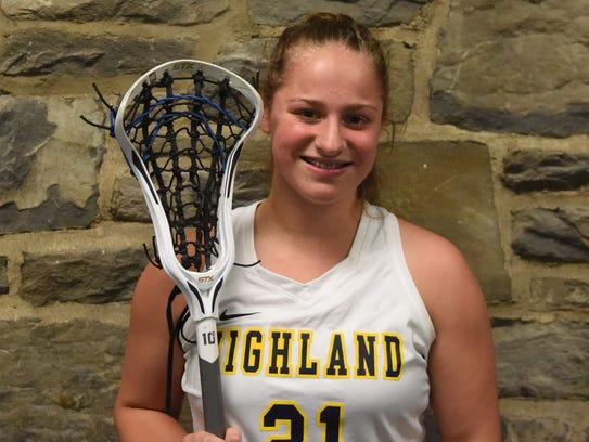 Highland girls lacrosse player Eliz Fino