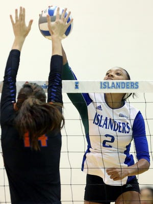 Brittany Gilpin is the first Texas A&M-Corpus Christi volleyball player to earn Player of the Year honors from the Southland Conference. Gilpin also earned All-Region honors on Wednesday.