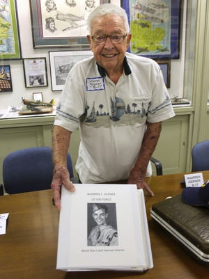 Warren Kepner, of Columbus, a B-17 flight engineer in the US Army Air Corps, had the opportunity to share his memories of WWII with a book he created that documents his experiences during the war.
