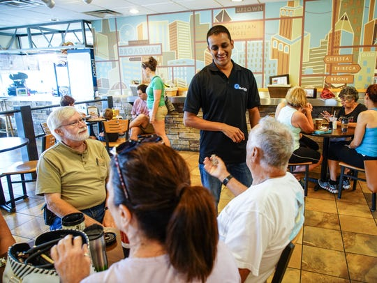 Rishen Patel, who owns Manhattan Bagel in Middletown,