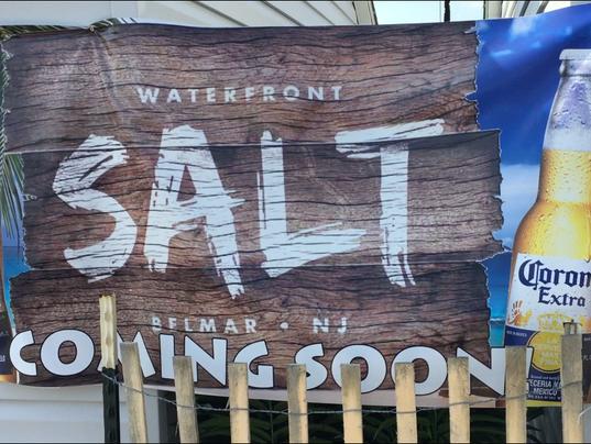Salt, idle outdoor bar in Belmar