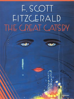Classic book jacket of 'The Great Gatsby.'