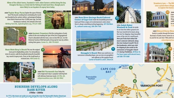 Part of the Yarmouth Chamber of Commerce's new Olde Cape Cod Discovery Trail map to explore the town's history.