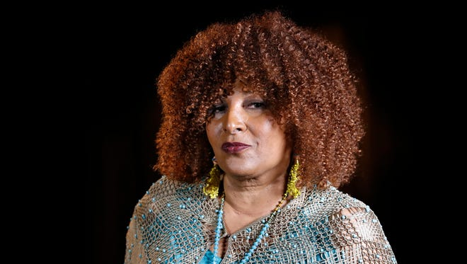 In this photo taken Aug. 25, 2017, actress Pam Grier is interviewed by The Associated Press in Washington.