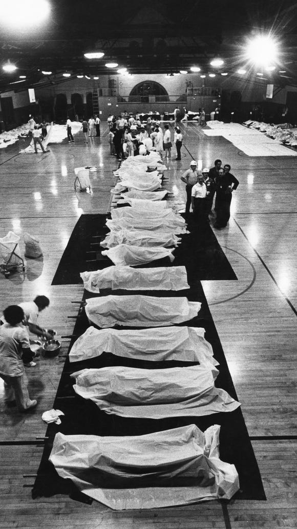 The Fort Thomas Armory was a temporary morgue for victims of the Beverly Hills Supper Club fire in 1977.