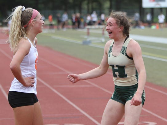 Howell's Emily Endebrock (right) and Brighton's Bryce