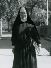 Sister Cecelia was pictured at St. Mary's School in Great Falls in 1957.
