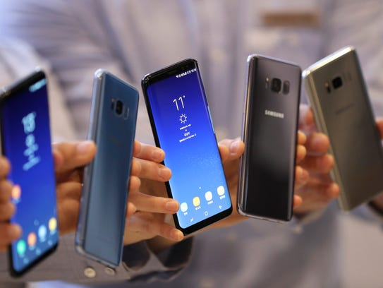 Samsung Electronics' Galaxy S8 and S8+ smartphones