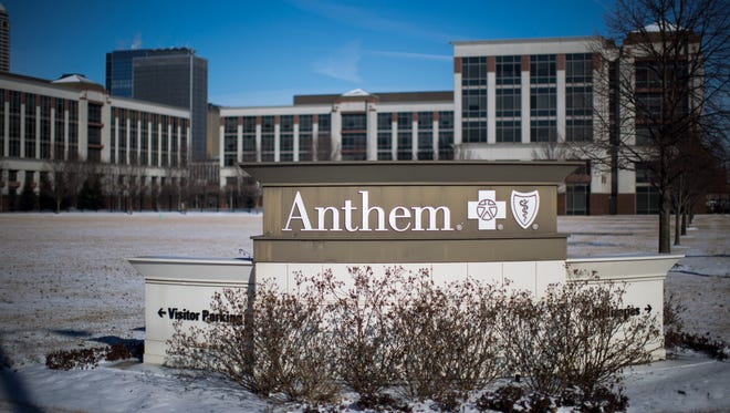 An exterior view of an Anthem Health Insurance facility on February 5, 2015