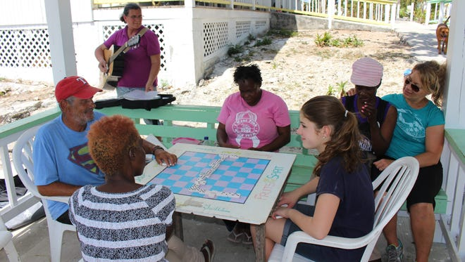 Students spent time working on basic repairs and upkeep of the All Saints camp, and also spend time with the residents, making connections and friends.