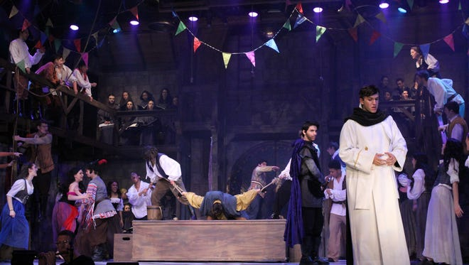 """Archbishop Stepinac High School's production of """"The Hunchback of Notre Dame"""" is nominated for 18 Metro Awards, not including the teacher-nominated technical merit category."""