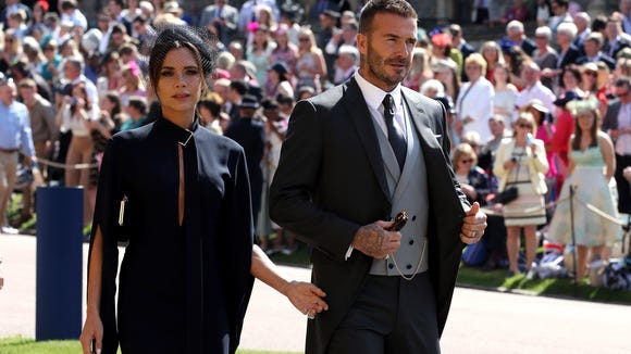 Victoria Beckham did not look terribly thrilled to be attending her second royal wedding.