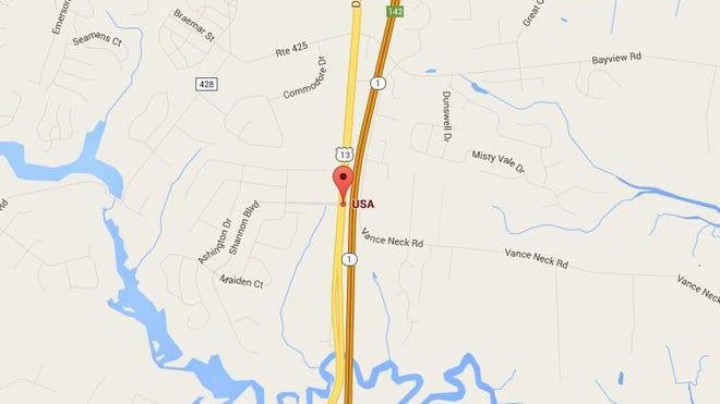 The crash occurred on U.S. 13 near Shannon Boulevard on Saturday night.
