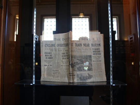 A copy of The Indianapolis Star from March 1916 was