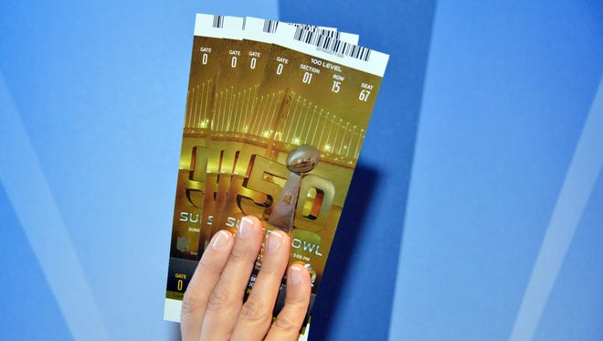 According to StubHub, the  the average selling price for Super Bowl 50 tickets was $4,879 as of Thursday.