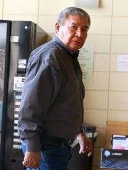 Former Navajo Nation Council Delegate Jack Colorado arrives at the Window Rock District Court on Wednesday in Window Rock, Ariz.