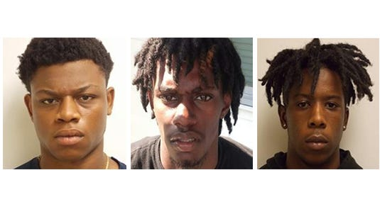 Salisbury murder suspect , from left, Ky'Shir Tariq Connally, Larry Allen Lamar Ennis and Jarrett Vaughn Stokes